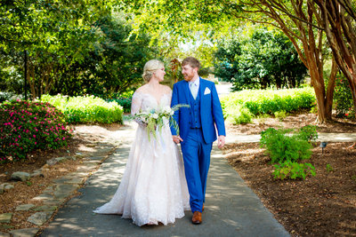 Wedding portraits at the Botanical Garden