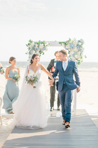 Beach-wedding-just-married-bright-candid-photograph