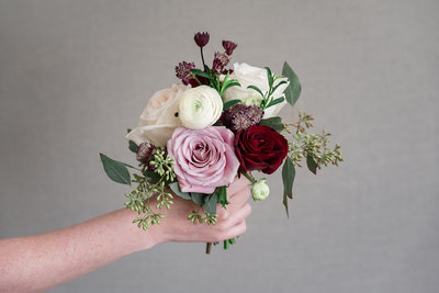 Blush and Burgundy Petite Bouquet