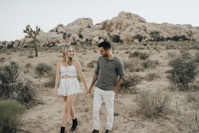 photo of bree and stephen in joshua tree taken by dakai photography