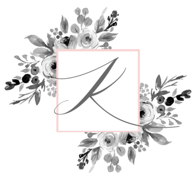 Square and Floral logo for Katherine Rose Photography - Southern California Wedding Photography