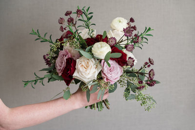 Blush and Burgundy Large Bouquet