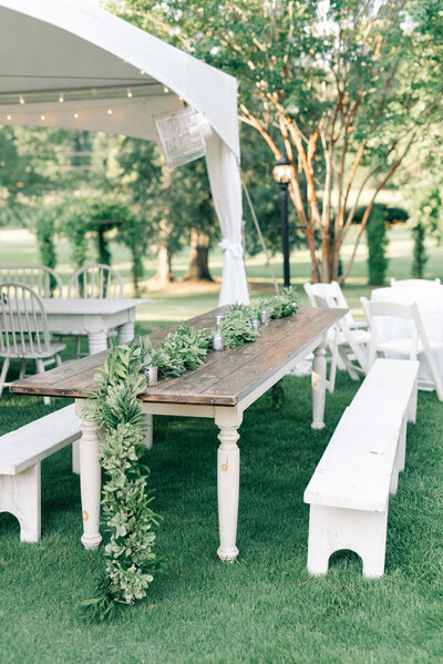 Beautiful reception details for wedding at Southern House and Garden