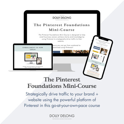 The Pinterest Foundations Mini Course. by Dolly DeLong Education image for Dolly's shop