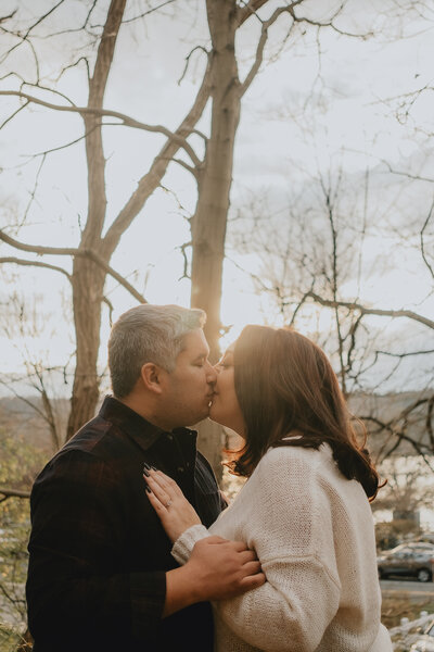 Fall Outdoor Engagement Portrait
