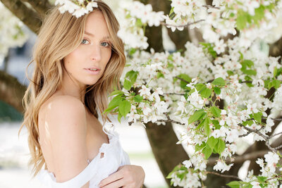 Trine Juel, hair and makeupartist Paris, shoot, glow makeup, cherry blossom _0316
