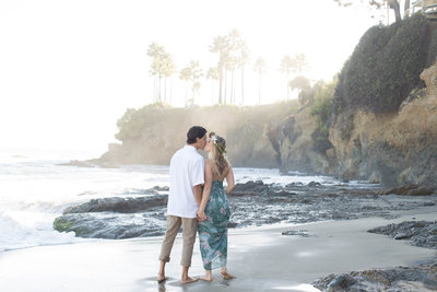 Emily and Chris took their engagement photos with Kelly H Photo at the Palos Verdes cliffs