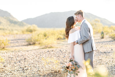 Mountain Estrella Sunset Engagement Session with MaeWood Photography-14