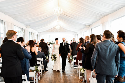 Ceremony under the tent at Malaparte