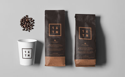 16TN Coffee Cup and Packaging