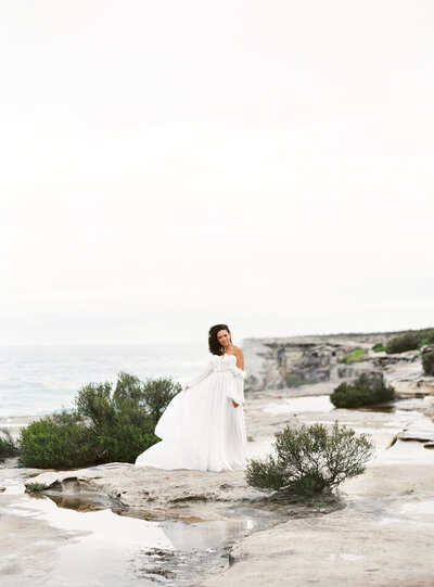 Fine Art Film Bowral Southern Highlands Wedding - Bride Editorial in Kurnell Sydney with Sheri McMahon -00040