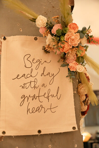 Begin Each Day Sign
