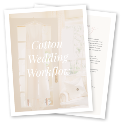 Cotton Wedding Workflow Preview