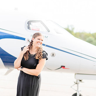 Destination Wedding Photographer with Airplane