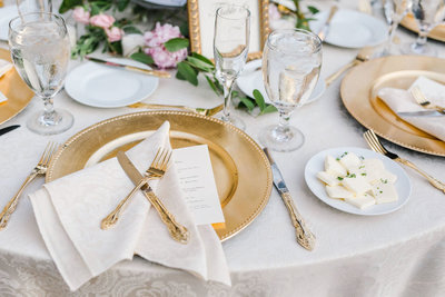 gold charger wedding
