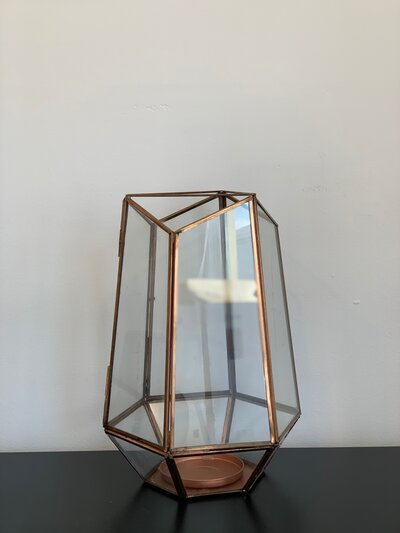 Rose Gold Lantern - Large