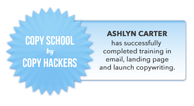 COPY SCHOOL - Badge of Completion - Ashlyn Carter