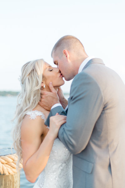 Maryland Waterfront Wedding Bride and Groom