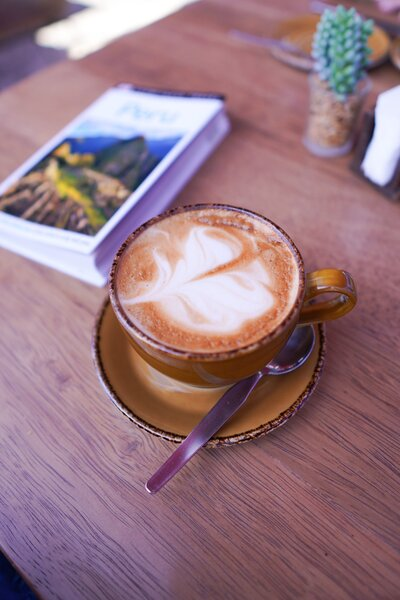 Peru guidebook & coffee