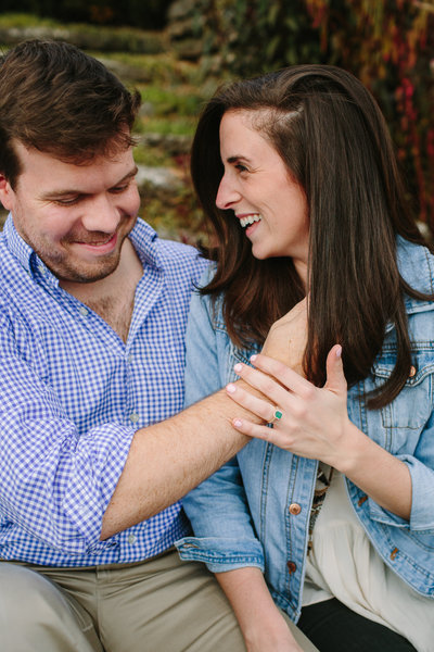 nashville wedding, engagement ring, emerald ring, emerald cut, custom engagement ring, green emerald, country wedding, garden wedding, halo emerald ring, loews vanderbilt hotel, cheekwood estate & gardens