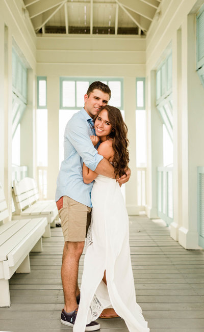 carillon beach rosemary beach destination wedding engagement photos