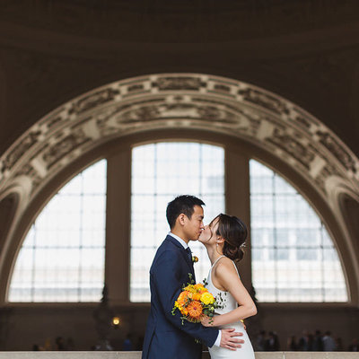 Experienced and knowledgeable San Francisco City Hall wedding photographer Zoe Larkin Photography