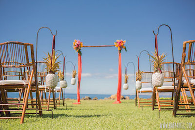 Wedding Arch with chairs Ocean front