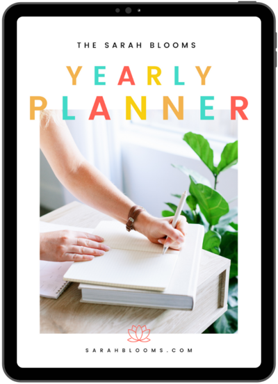 Sarah Blooms FREE Yearly Planner