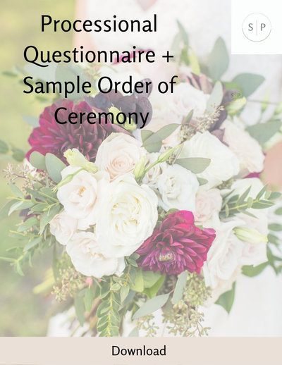 Processional Questions + Order of Ceremony (2)