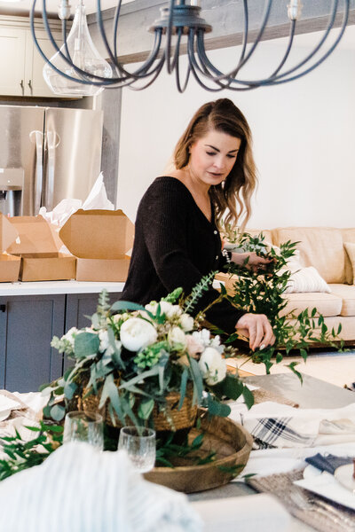 professional branding photo of florist working