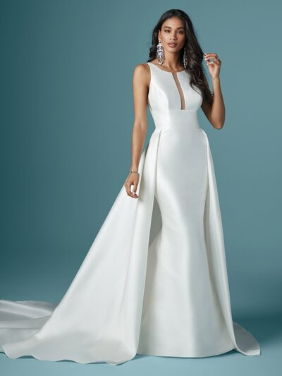Mikado A-Line Wedding Dress. We're inspired by elegance, and this Mikado A-line wedding dress is classy, heavenly, and oh-so-sophisticated in its simplicity. Wouldn't you love to love her too?