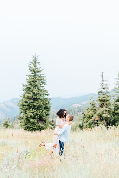 Bogus Basin Summer Engagement Session in Idaho