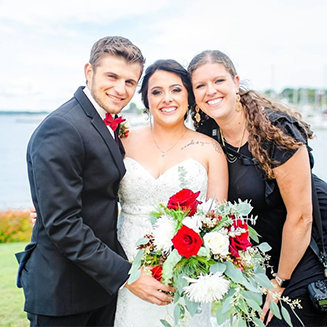 Grand Rapids Wedding Photographer with bride and groom