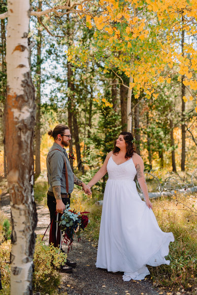 elopement in grand teton national park in the fall