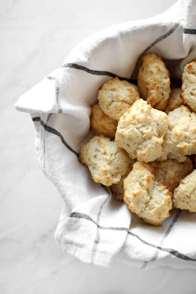 A quick and easy recipe for homemade, four ingredient southern drop biscuits