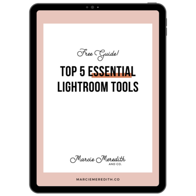 LR top 5 guide Marcie Meredith ipad