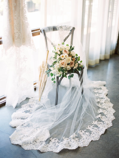 styled bridal bouquet and details photo