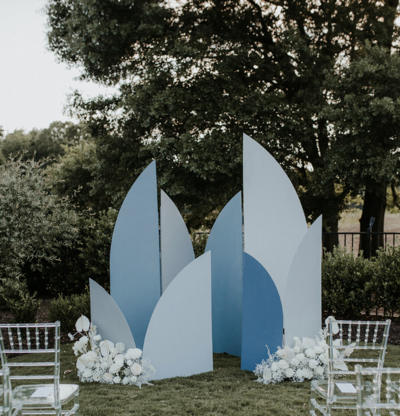 Geometric Backdrop  Arbor Charlotte NC Weddings