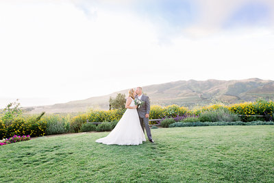 Couple kissing in Ventura County