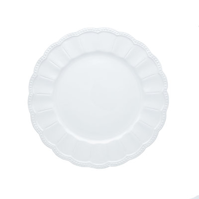 White detail charger plate