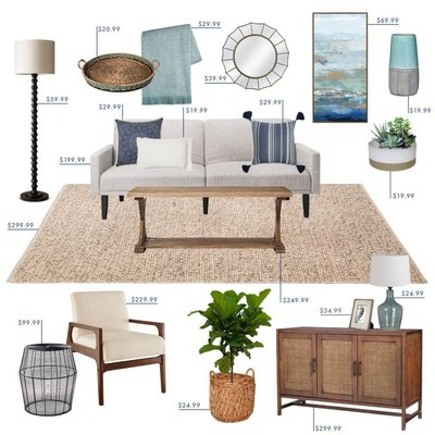 staging houses interor decoration furniture accessories accent pieces plant end tables paintings