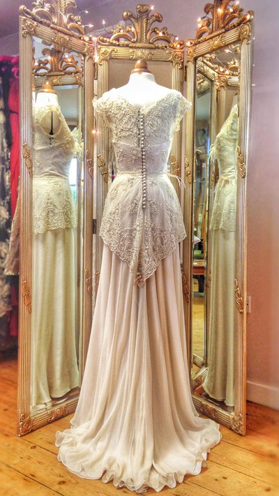LilyElsie_champagne_beaded_lace_silk_wedding_dress_JoanneFlemingDesign