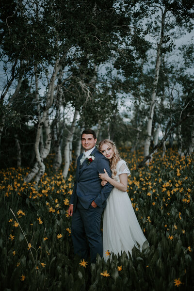 Mountain Wildflower Utah Wedding