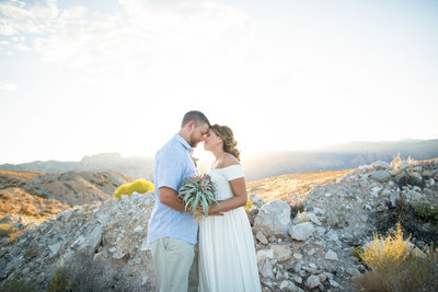 Las Vegas elopement in the mountains