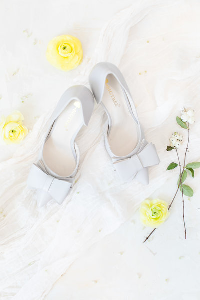 wedding day shoes flat lay