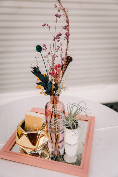 dried floral centerpiece