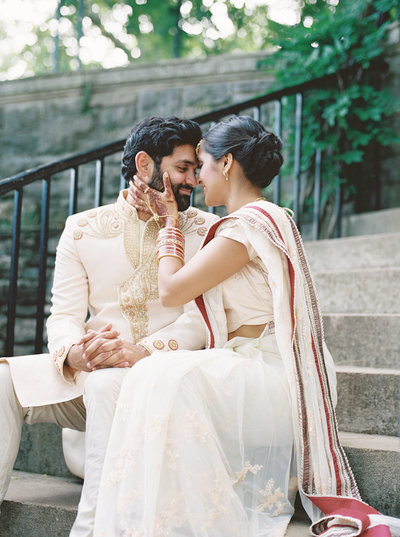 Modern and bold Indian wedding ceremony and reception at Cheekwood Estate & Gardens in Nashville, TN.