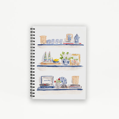styled shelves spiral notebook mockup front low res