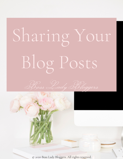 Sharing Your Blog Posts EBook