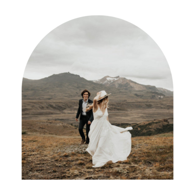couple in mountains dancing